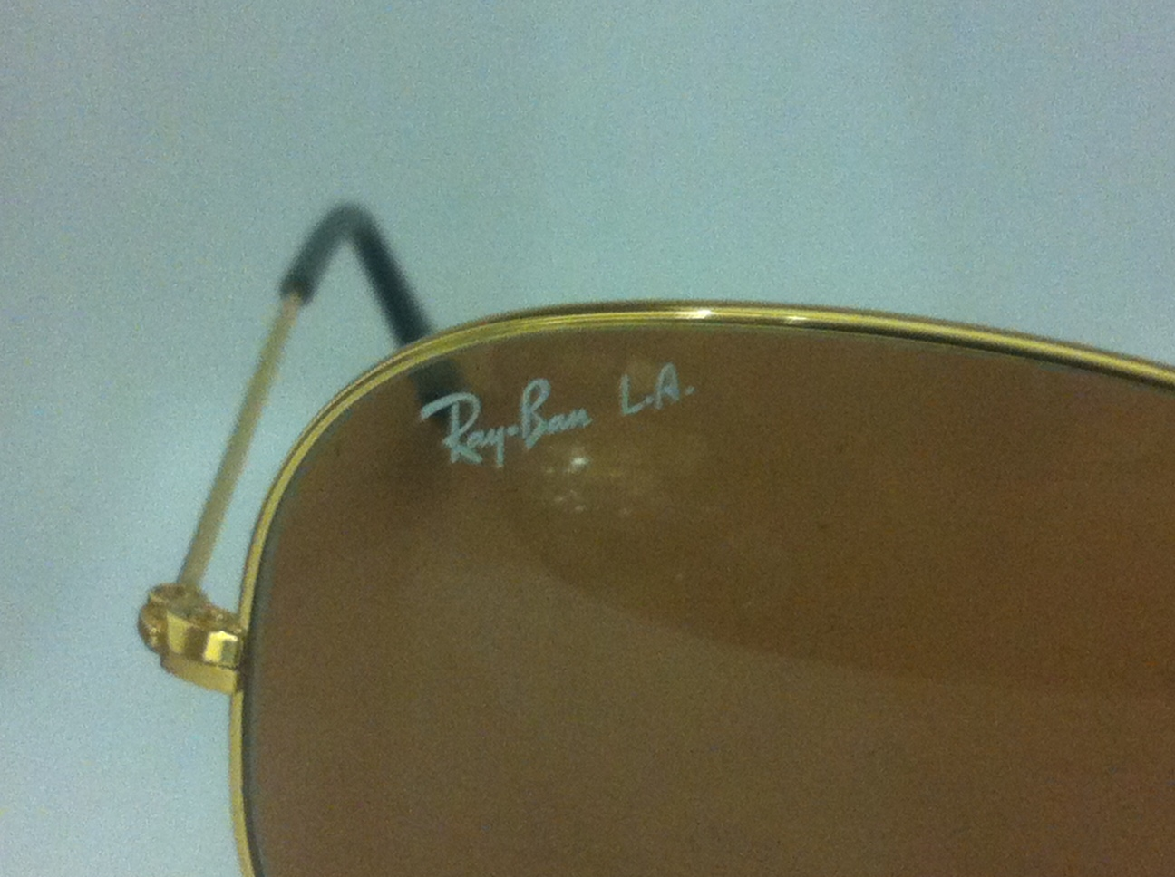 ray ban aviator polarized fake