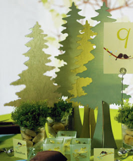 Wooden Die-Cut Evergreen Trees