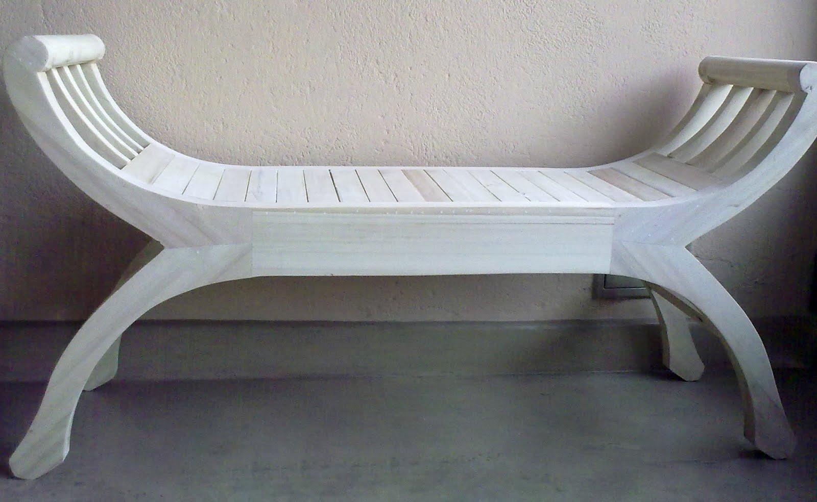 Banco banqueta taburete silla madera pie de cama 1 plaza for Taburete pie de cama