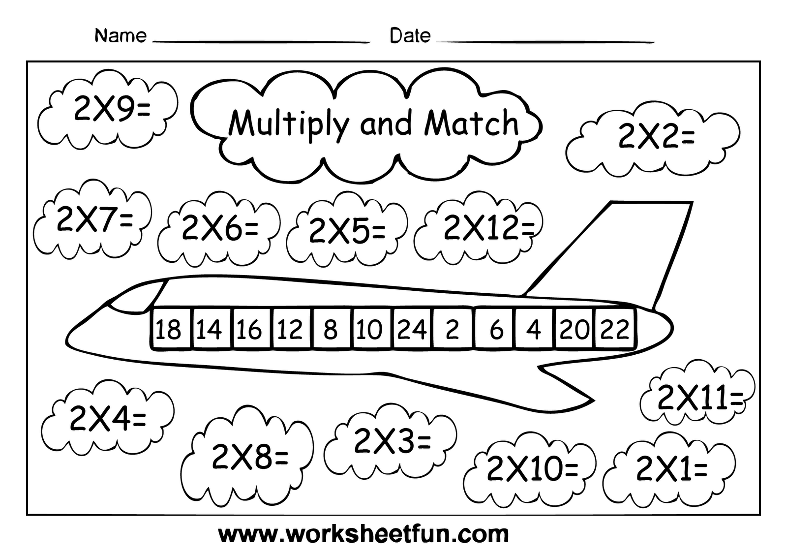 Times tables homework sheets