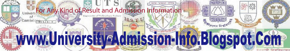 university admission information admission result university scholarship information