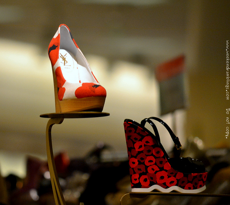 YSL Yves Saint Laurent Fashion Designer Shoes for Women Poppy Print Wedge Riviera Sandal Resort Collection 2012 Nordstrom