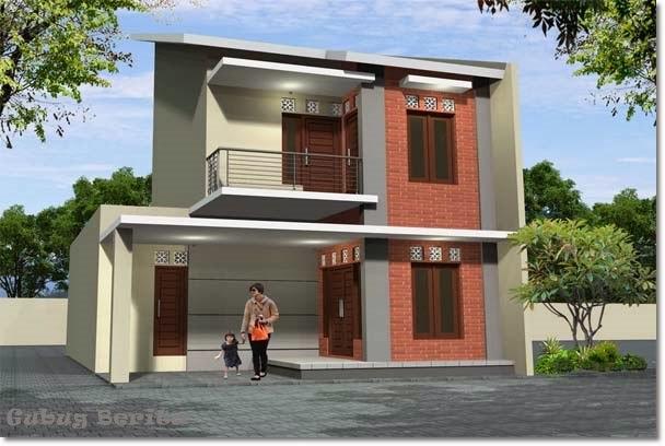 model rumah minimalis tingkat dua