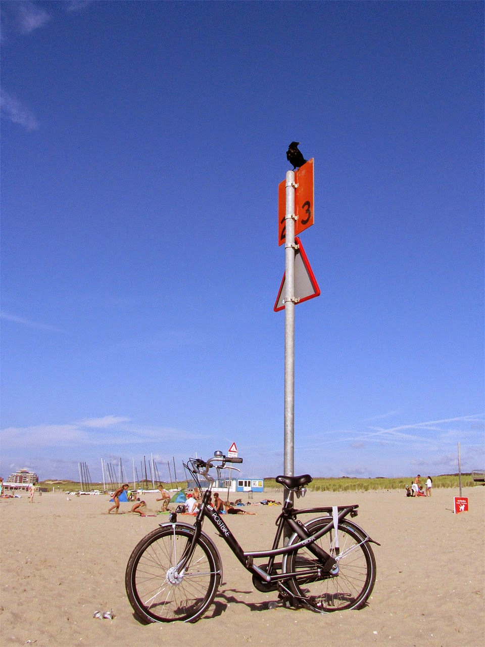 bike on beach