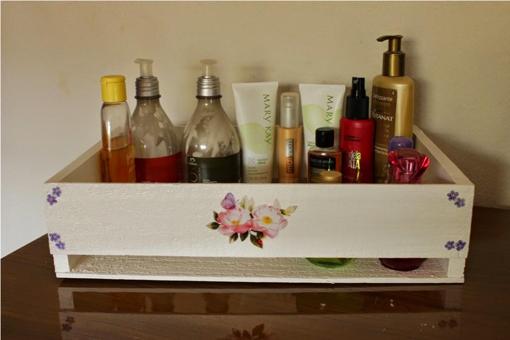 Organizando produtos de beleza