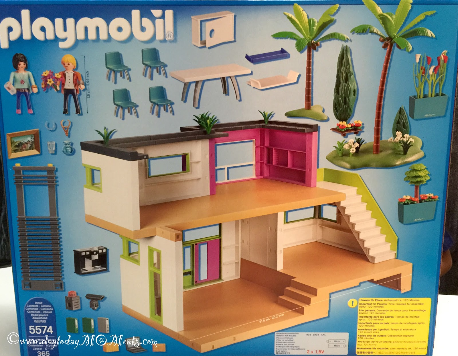Day To Day Moments Playmobil 5574 Modern Luxury Mansion Building Set Imaginative Play More