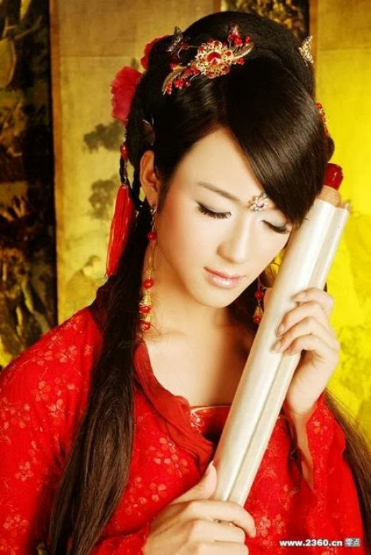 Chinese drag long hair