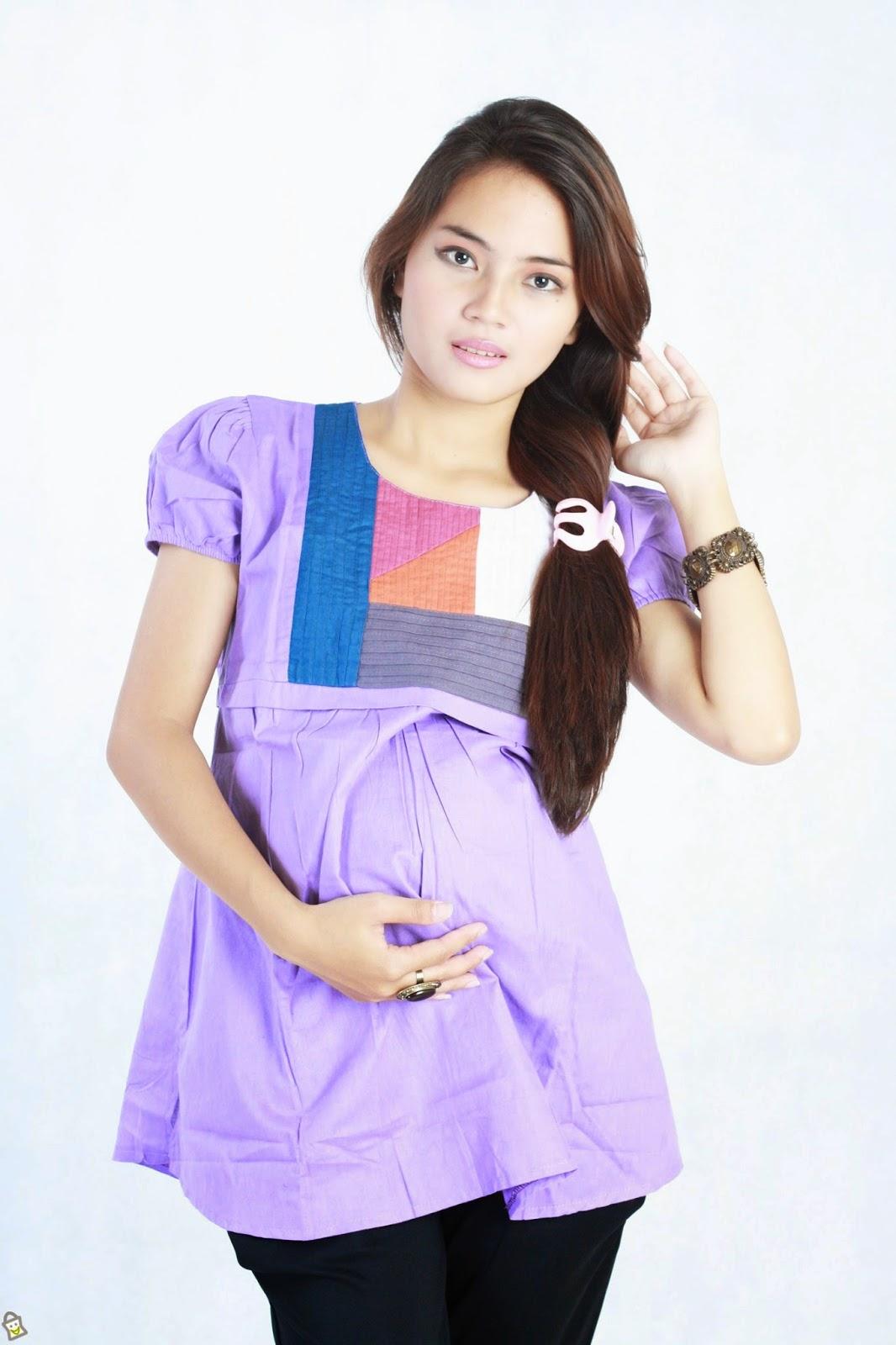 Model Baju Hamil Muslim Trendy 4-5 Bulan