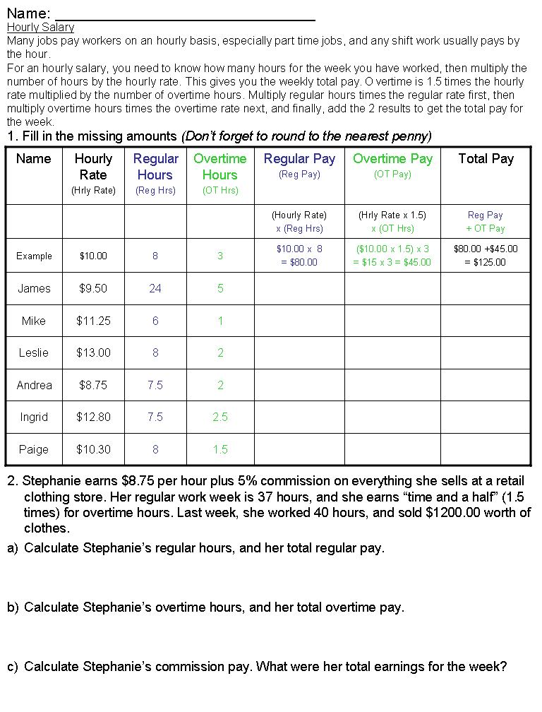 how to calculate hourly pay from annual