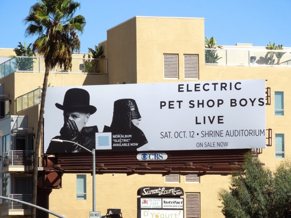 Electric Pet Shop Boys Live Shrine LA billboard