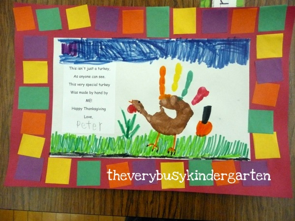 The very busy kindergarten more cute easy turkey projects for November crafts for kindergarten