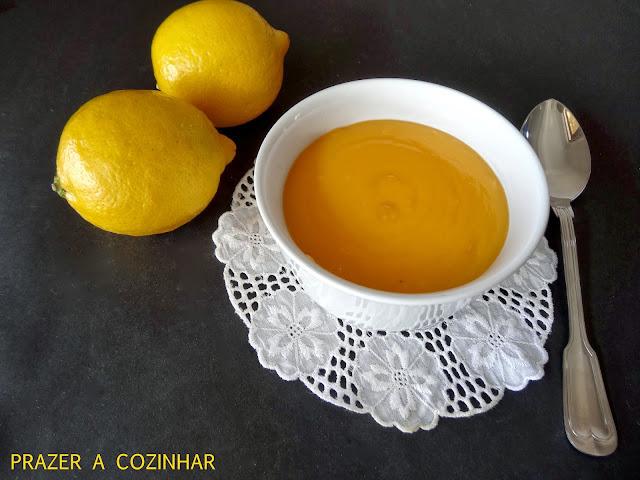 prazer a cozinhar - curd de limão