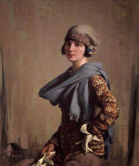 Girl in a Fair Isle Jumper by Stanley Curbister, City of Edinburgh collection
