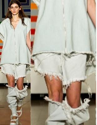 9 Weirdest Clothes at London Fashion Week: Completely Denim