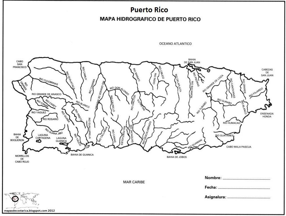 Mapas De Puerto Rico Para Colorear Images Diagram