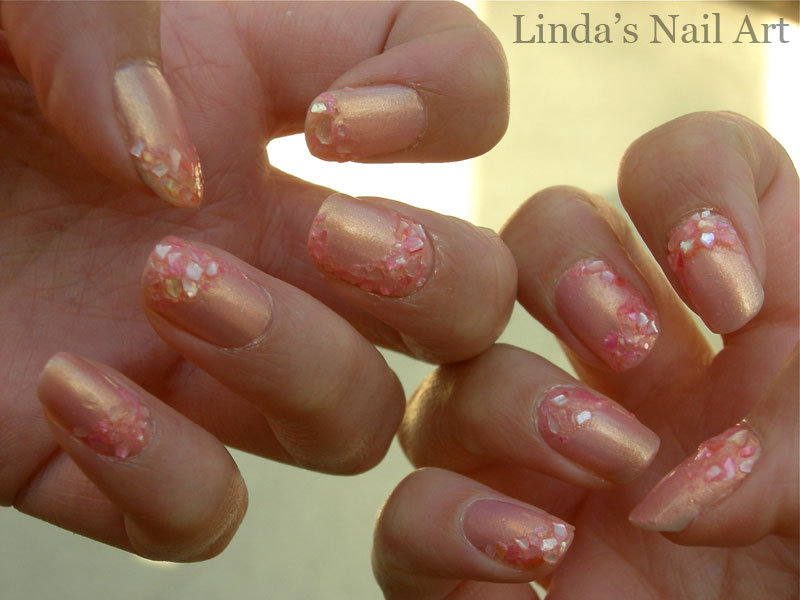 Pink Crushed Shells Linda S Nail Art