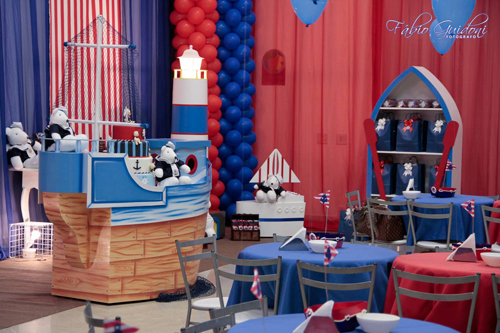Mamypops decoraci n de la fiesta del 1 cumplea os de for Decoracion nautica infantil