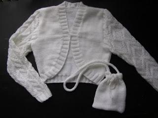pierwsza komunia, sweterek, na drutach