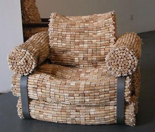 wine cork projects - chair