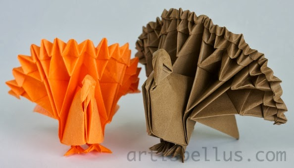 Thanksgiving Decorations Turkey Origami Artis Bellus