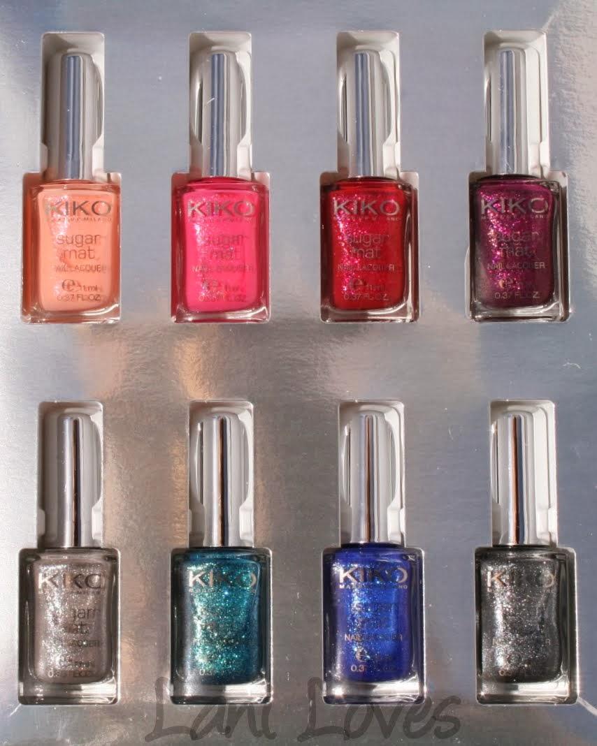 Kiko Sugar Mat Nail Polish Collection Swatches & Review