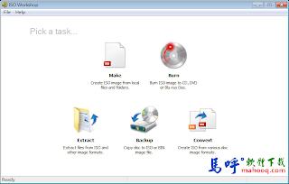 ISO Workshop 免安裝 - ISO檔燒錄軟體,可建立ISO檔、轉換ISO檔的好用工具
