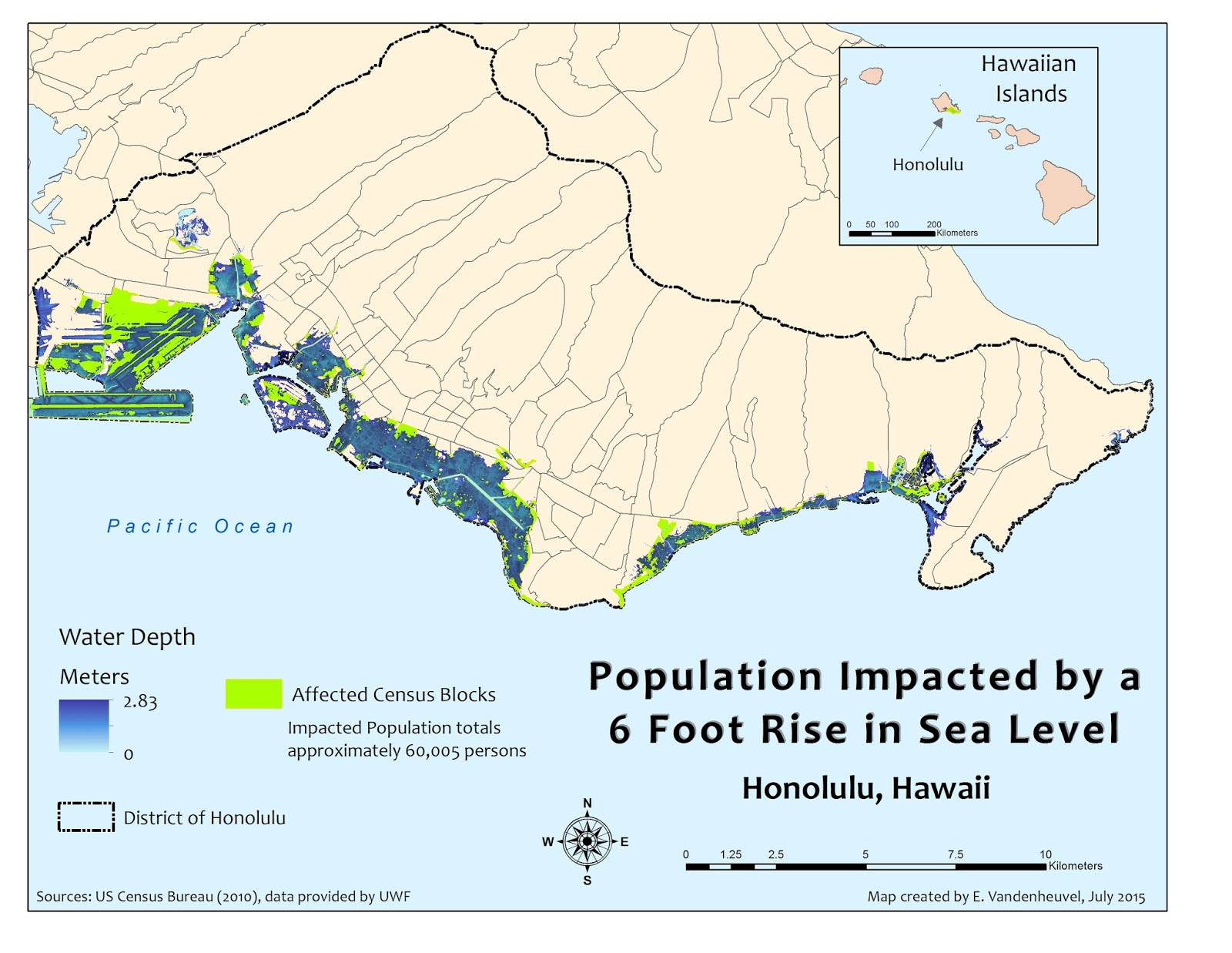 hawaii because of its isolated location in the warm tropical waters of the south pacific is especially vulnerable to water related catastrophes
