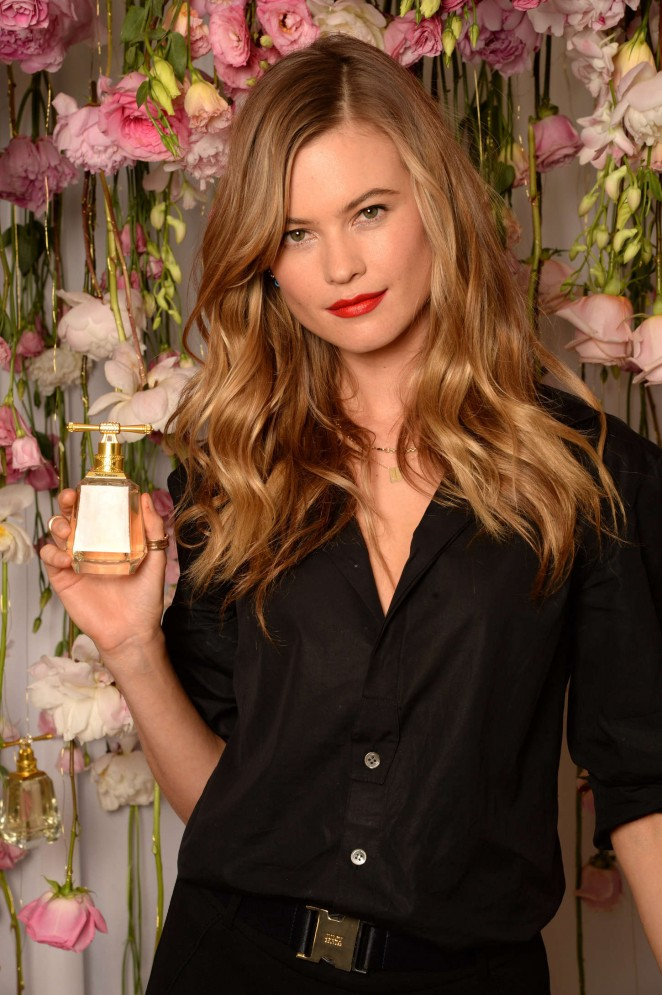 Behati Prinsloo in a black attire at the 'I am Juicy Couture' Fragrance launch in NYC