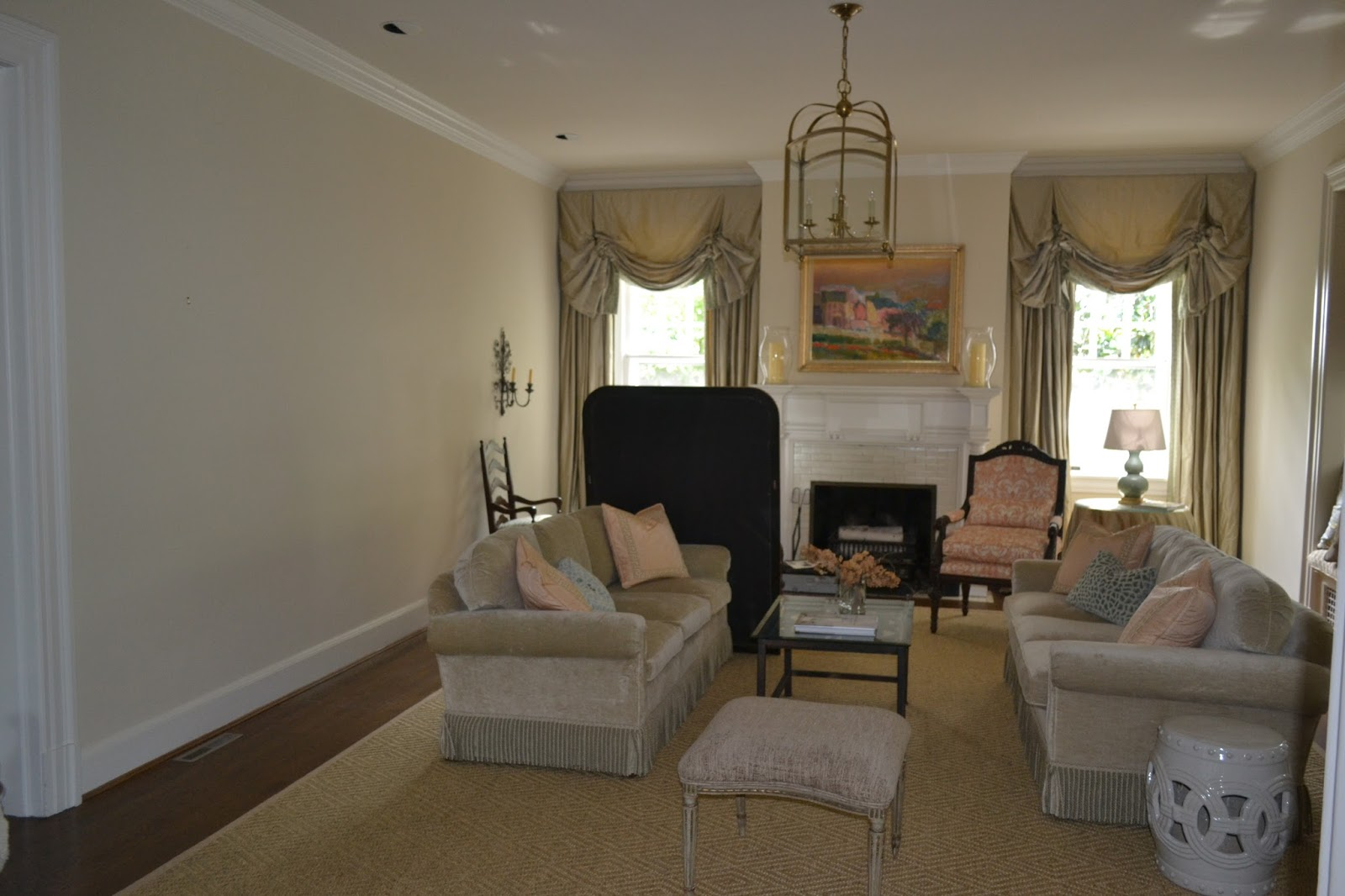 LUCY WILLIAMS INTERIOR DESIGN BLOG BEFORE AND AFTER WATERFRONT LIVING ROOM WALL
