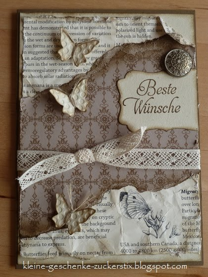 kleine geschenke zuckerstix meine erste vintagekarte. Black Bedroom Furniture Sets. Home Design Ideas