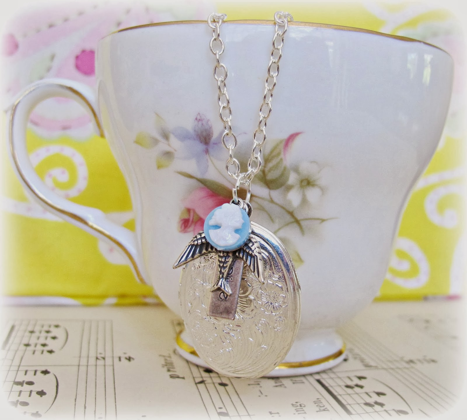 image mr darcy locket necklace two cheeky monkeys jane austen pride and prejudice silver plated swallow bird blue and white cameo inspire quote
