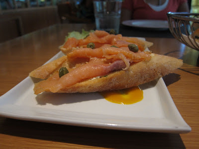 Smoked Salmon Bruscetta at The Bistro Pune