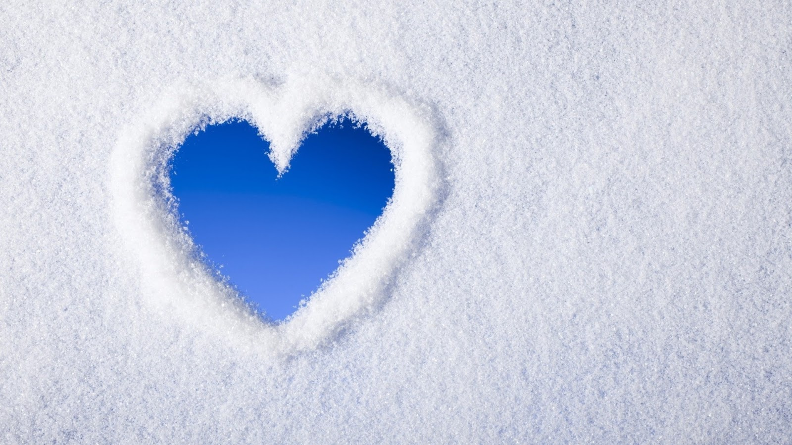 Snow Love Heart 1920x1080 Wallpaper