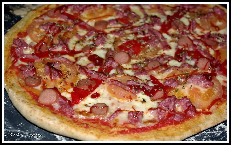 PIZZA CON MASA DE ESPELTA SEMI INTEGRAL DE CARNE
