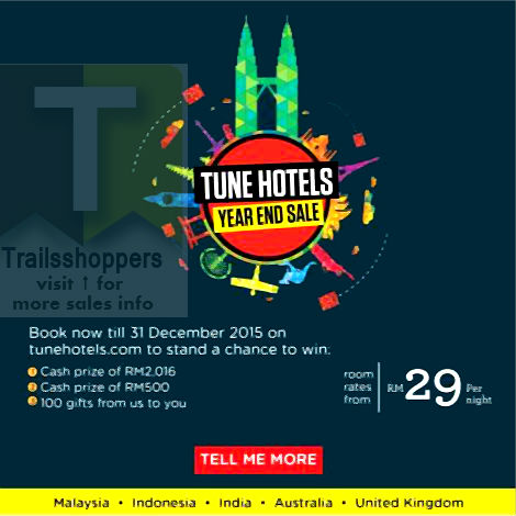 Tune Hotels Year End Sale Malaysia 2015