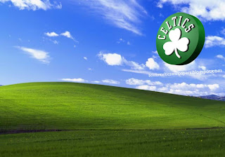 Boston Celtics desktop Wallpapers Celtics Left Logo in Beautiful Countryside Landscape Desktop wallpaper