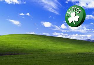 Boston Celtics desktop Wallpapers Celtics Left Logo in Beautiful Countryside Landscape Desktop wallpaper