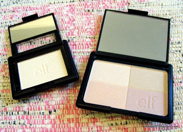 e.l.f. Studio Blush in Gotta Glow! and e.l.f. Studio Tone Correcting Powder in Shimmer