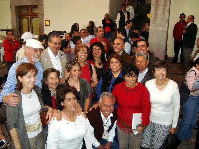 Ambientalistas con el gober Pepe Calzada y el srio Rafael Elvira Quesada