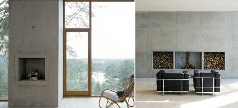 Fig Studio Architecture + Interiors: Concrete Fireplaces