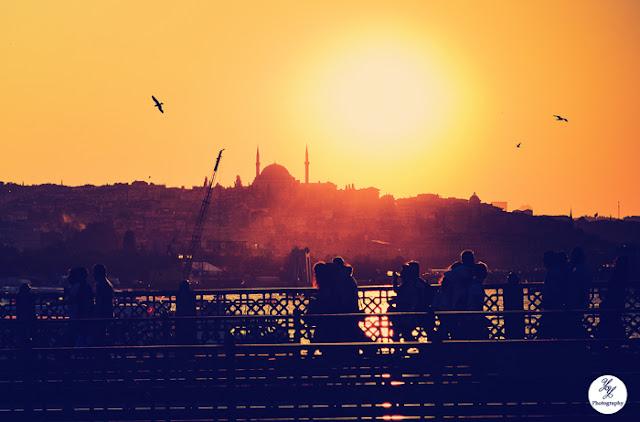 Silhouettes - Sunset - Galata Bridge - Istanbul - Turkey - Y&Y Photography