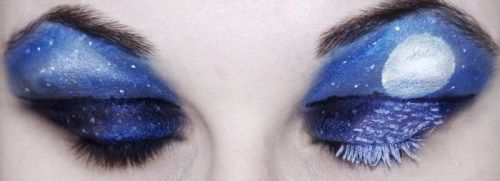 Excellent eye make up