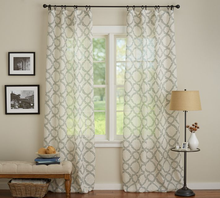 The collected interior week end shopping patterned for Patterned sheer curtain panels