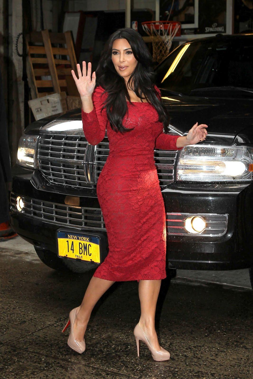 Kim kardashian in red dress