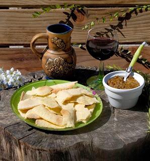 Pain carasau et Caviar d'aubergines, recettes italiennes, pain carasau recette, recette pain carasau sans gluten, recette de pain de sardaigne
