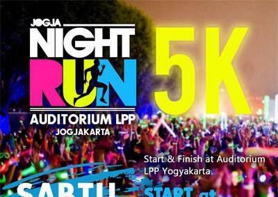 Jogja Nght Run 2015 Lomba lari di jogja lari malam glow stick
