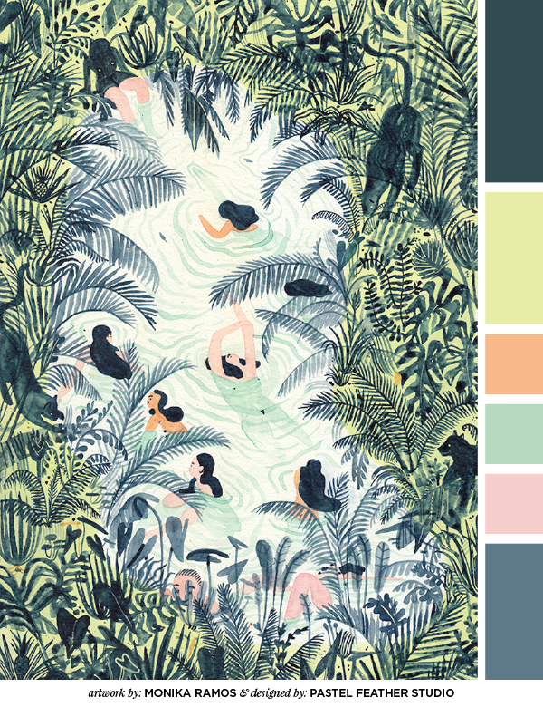 pastel feather studio color palette