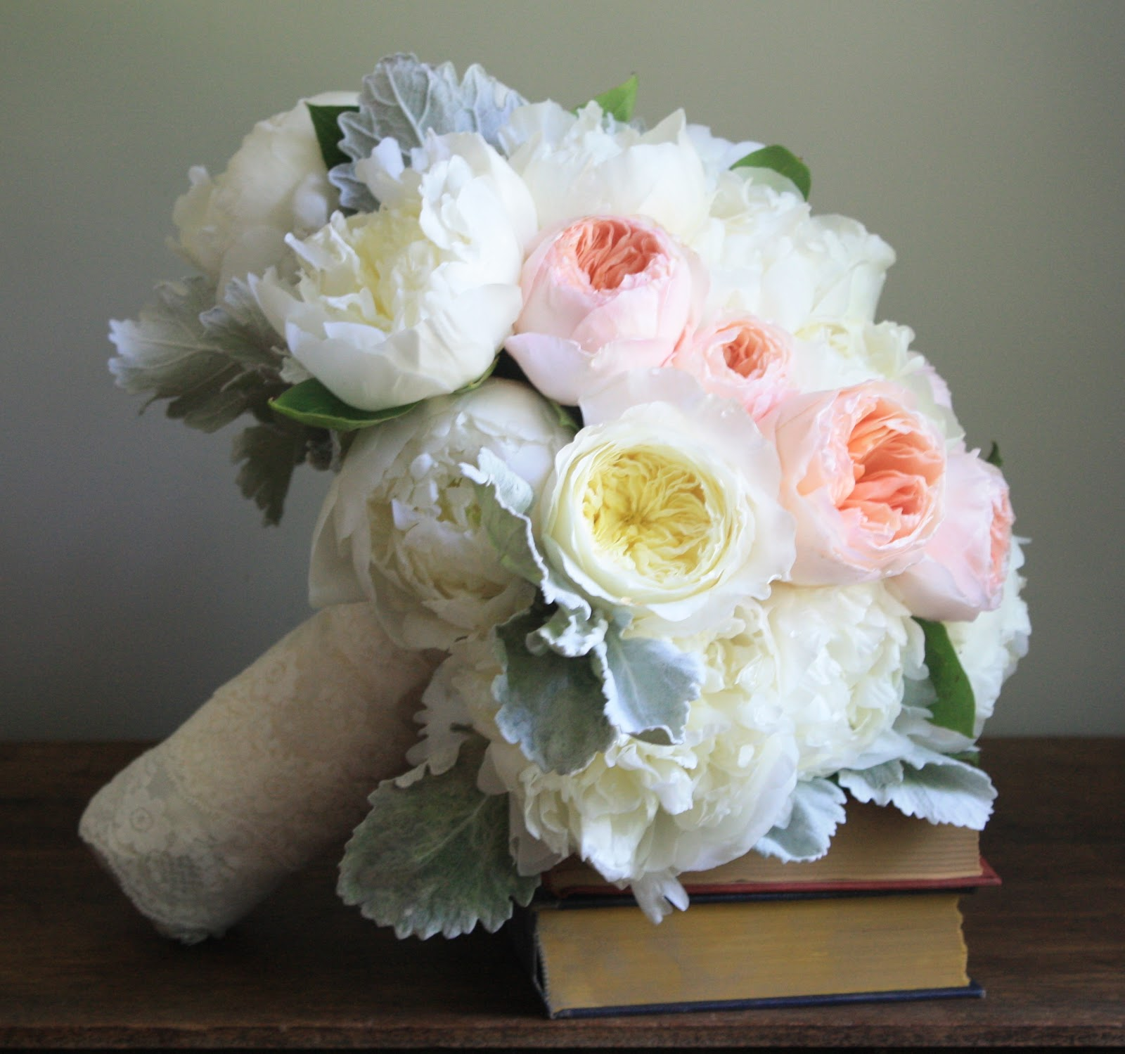 Garden Rose & Peony Bouquet, Garden Rose Bouquet, David Austin Rose Bouquet, Juliet Garden Rose, Patience Garden Rose, Rose Bridal Bouquet, Rose Bouquet, Wedding Bouquet - Splendid Stems Wedding Flowers - Wedding Florist