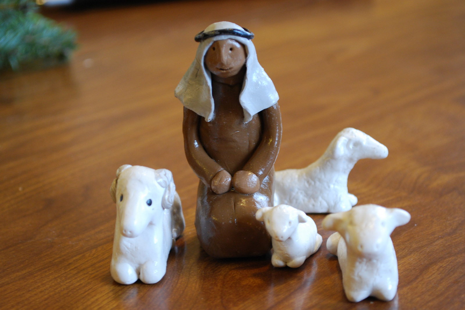 making clay figures