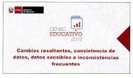 CAMBIOS RESALTANTES E INCONSISTENCIAS EN EL CENSO EDUCATIVO 2018